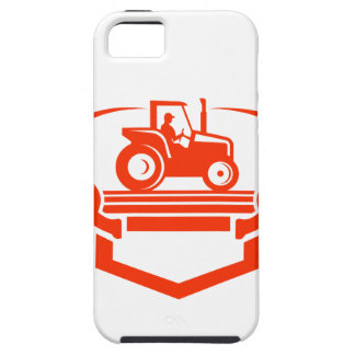 White Tail Deer Antler Tractor Retro Case For The iPhone 5