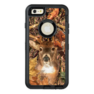 White Tail Deer Head Fall Energy Spirited on a OtterBox Defender iPhone Case