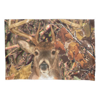 White Tail Deer Head Fall Energy Spirited on a Pillowcase