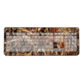 White Tail Deer Head Fall Energy Spirited on a Wireless Keyboard