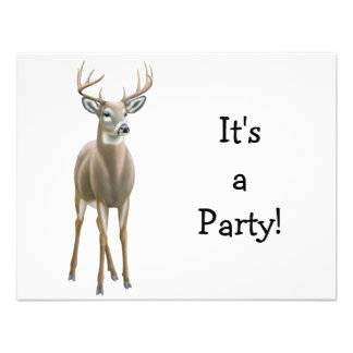 White Tailed Deer Buck Invitation