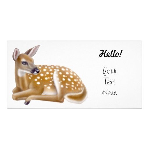 White Tailed Deer Fawn Personalized Photo Card
