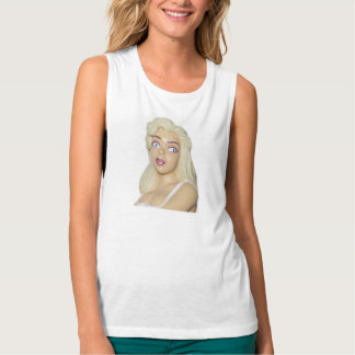 White Tank Top - Blondes Do Have More Fun Classic