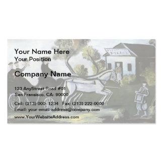 White tavern by Niko Pirosmani Business Card Templates