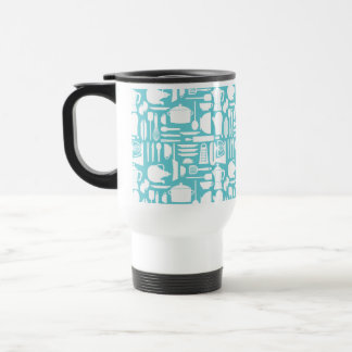 White Teal Kitchen Things Coffee Mugs