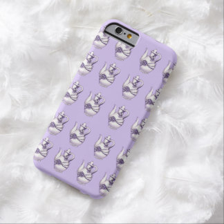 White Teapots on Lavender Pattern iPhone 6 Case Barely There iPhone 6 Case