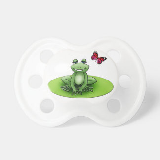 White teat with Froggy the frog Baby Pacifiers