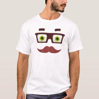 White Tee Mustache