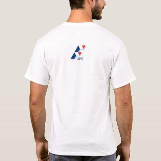 White tee-shirt Black Eyebrows T-Shirt