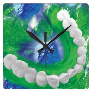 White Teeth Arch Dentist Orthodontist Wall Clock