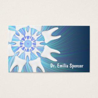 White Teeth Circle Dentist Business Card