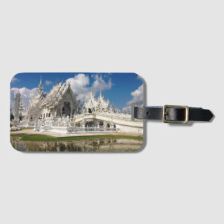 White Temple Luggage Tag