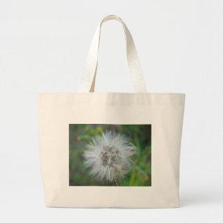 White, tender game flower canvas bag