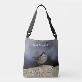 White-throated sparrow crossbody bag