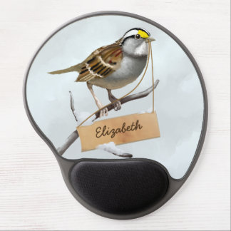 White throated sparrow customize name gel mouse pad