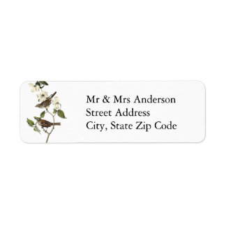 White-throated Sparrow - John Audubon Return Address Label