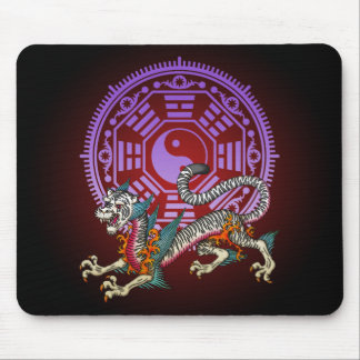 White Tiger 03 Mouse Pad