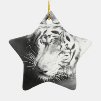 White Tiger 2 Ceramic Star Decoration