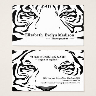 white tiger 321 business card