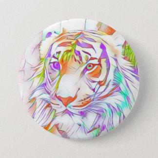 White tiger 7.5 cm round badge