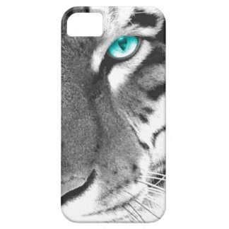 White Tiger aqua eye Case For The iPhone 5