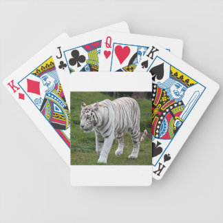 White Tiger Bicycle Playing Cards