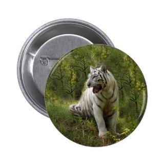 White Tiger Button (8.5x8.5)