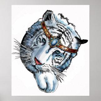 White Tiger. by Portia St. Luke Poster