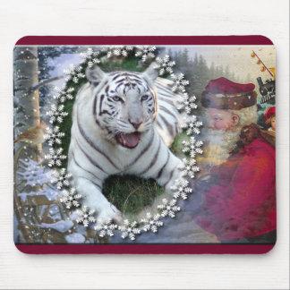 White Tiger-c-24 copy Mouse Pad