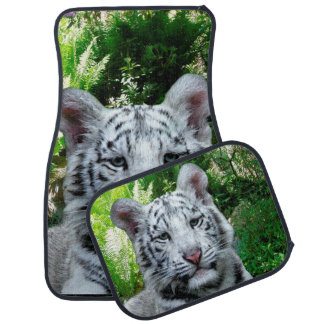 White Tiger Car Mat