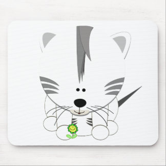 White Tiger Cub Mouse Pad