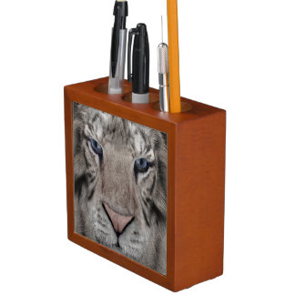 White Tiger Desk Organiser