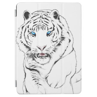 White Tiger Drawing iPad Air Cover