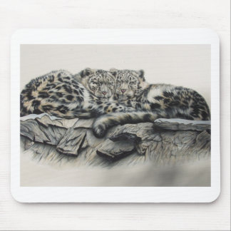 White Tiger Duo Mouse Pad