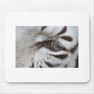White Tiger Eye Mouse Pad