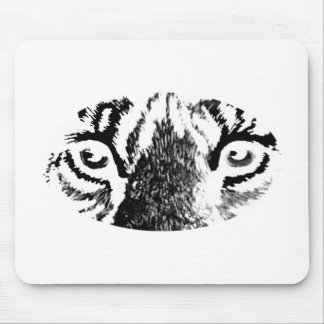White Tiger Eyes The MUSEUM Zazzle Gifts Mouse Pads