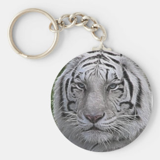 White Tiger Face Key Ring