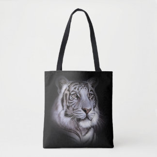 White Tiger Face Tote Bag