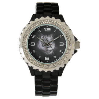 White Tiger Face Wrist Watches
