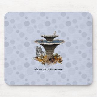 White Tiger Fountain 1 Mousepad