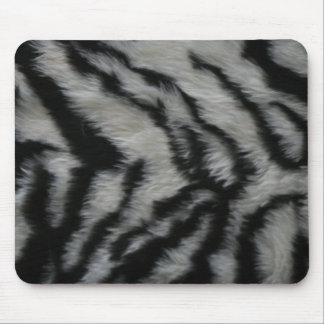 White Tiger Fur Mouse Pads