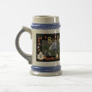 White Tiger Halloween Stein Coffee Mug