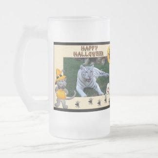 White Tiger Halloween Steins