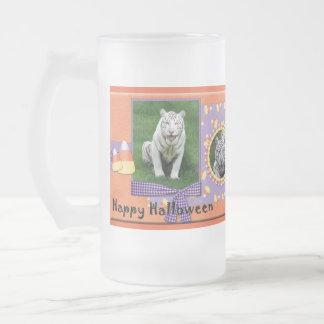 White Tiger Halloween Steins Coffee Mug
