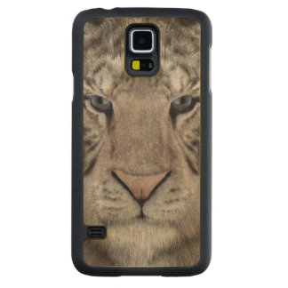 white_tiger_head carved maple galaxy s5 case