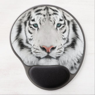White Tiger Head Gel Mouse Pad
