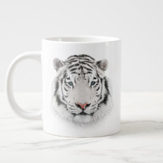 White Tiger Head Jumbo Mug