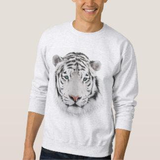 White Tiger Head Sweatshirt
