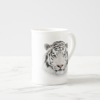 White Tiger Head Tea Cup