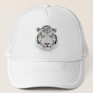 White Tiger Head Trucker Hat